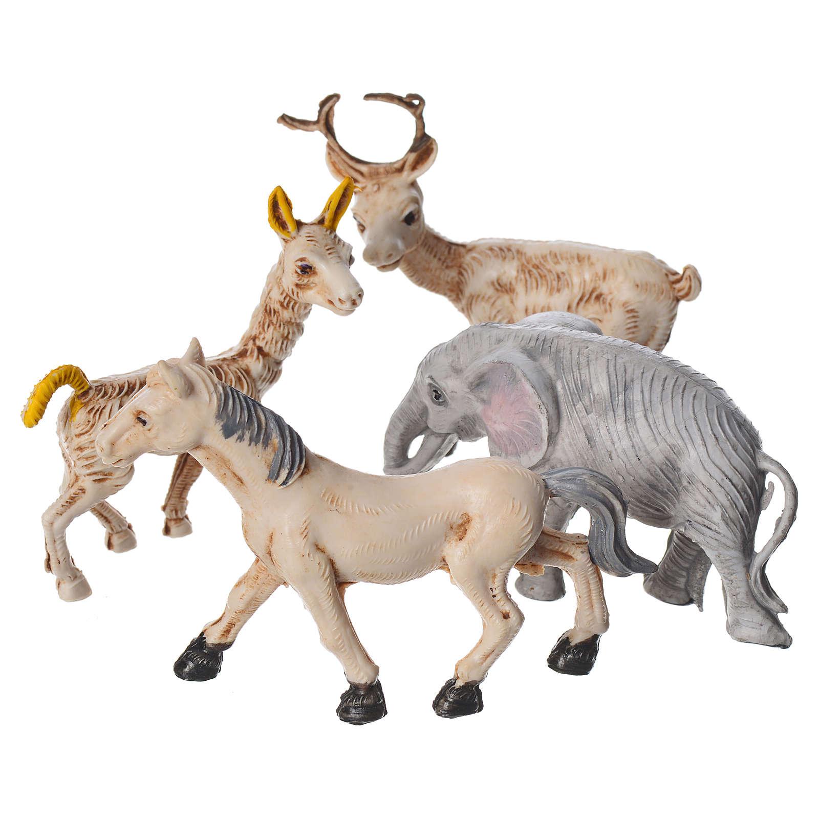 Set 4 animaux miniature pour crèche 10 cm 3