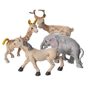 Set 4 animaux miniature pour crèche 10 cm s2