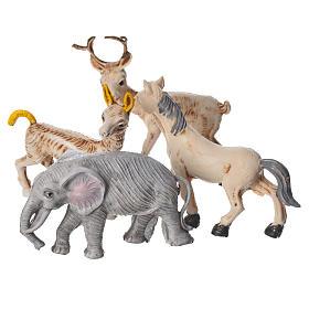 Set 4 animaux miniature pour crèche 10 cm s3
