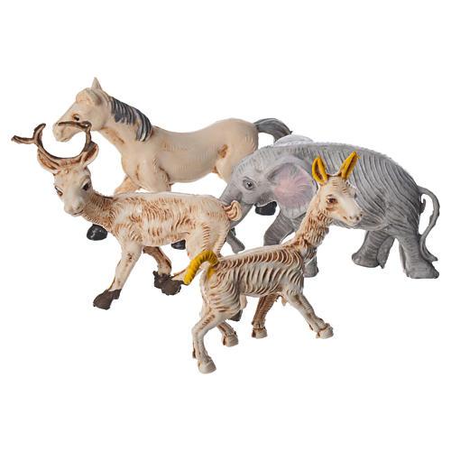 Set 4 animaux miniature pour crèche 10 cm 1