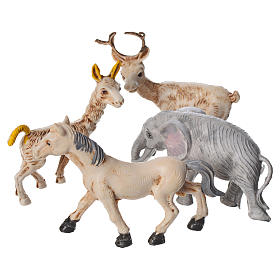 Nativity figurines, set of 4 animals, 10cm s2