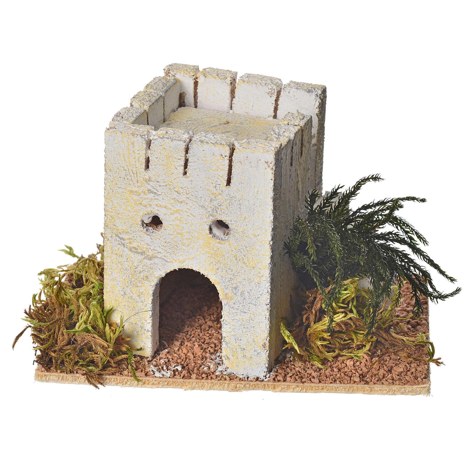 Casa araba legno per presepe 8x14x9 cm 4