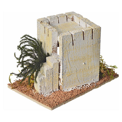 Casa araba legno per presepe 8x14x9 cm 2