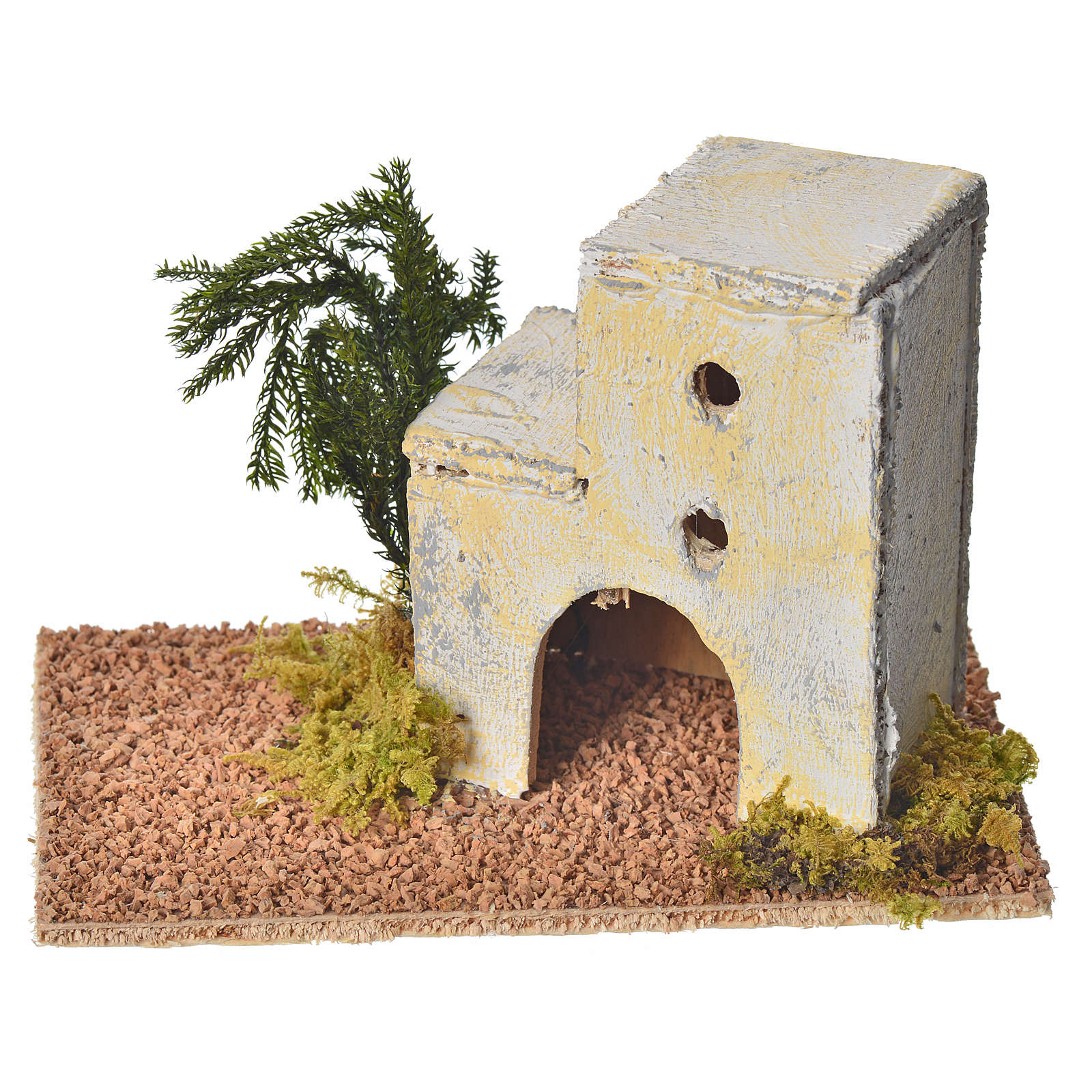 Maison arabe en bois pour crèche 8x14x9 cm 4