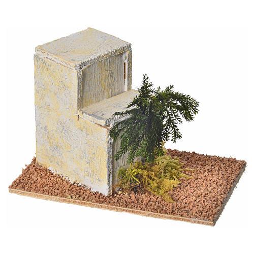 Maison arabe en bois pour crèche 8x14x9 cm 2