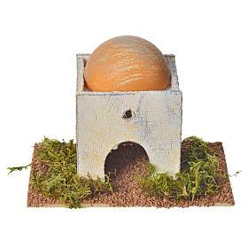 Casetta araba con cupola in legno per presepe 8x14x9 cm s1