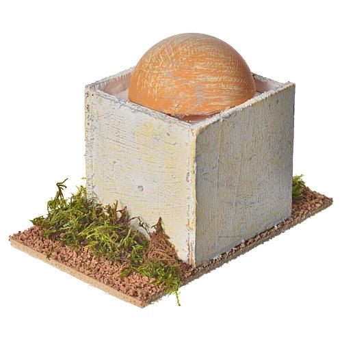 Casetta araba con cupola in legno per presepe 8x14x9 cm 2
