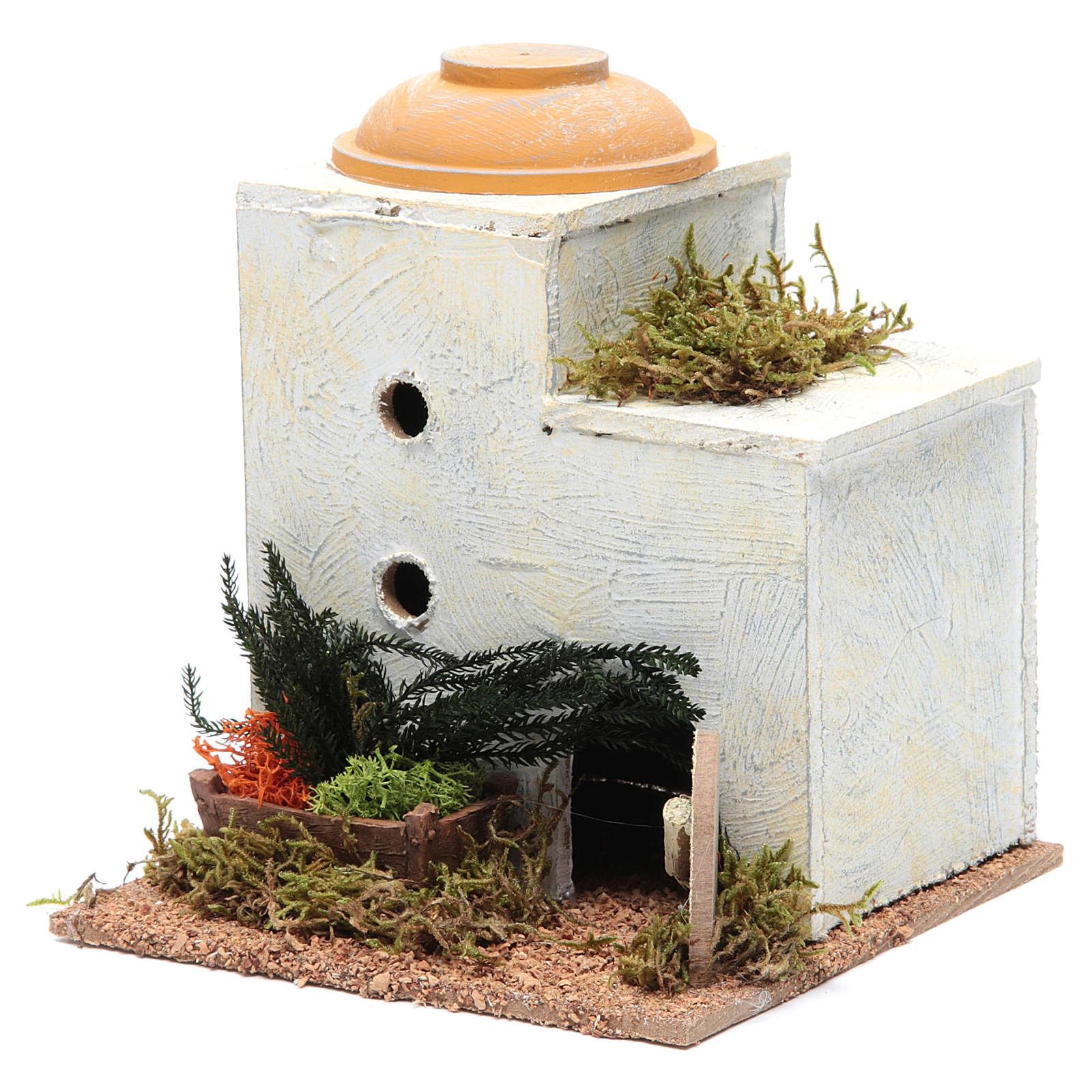Casa araba legno per presepe 18x15x15 cm 4
