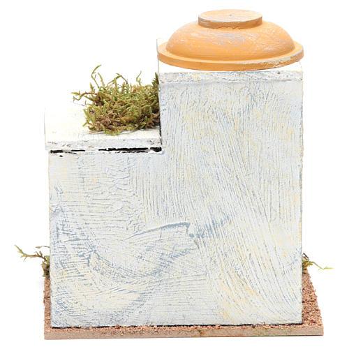 Casa araba legno per presepe 18x15x15 cm 3