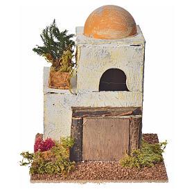 Casa araba in legno per presepe 18x15x15 cm s1