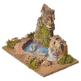 Nativity setting, pond with ducks 10cm s3