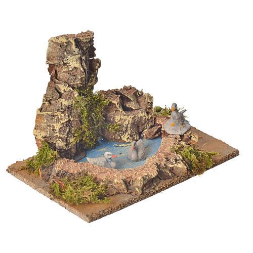 Nativity setting, pond with ducks 10cm 2