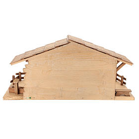 Cabaña estilo refugio para belén Valgardena de madera multipatinada s5