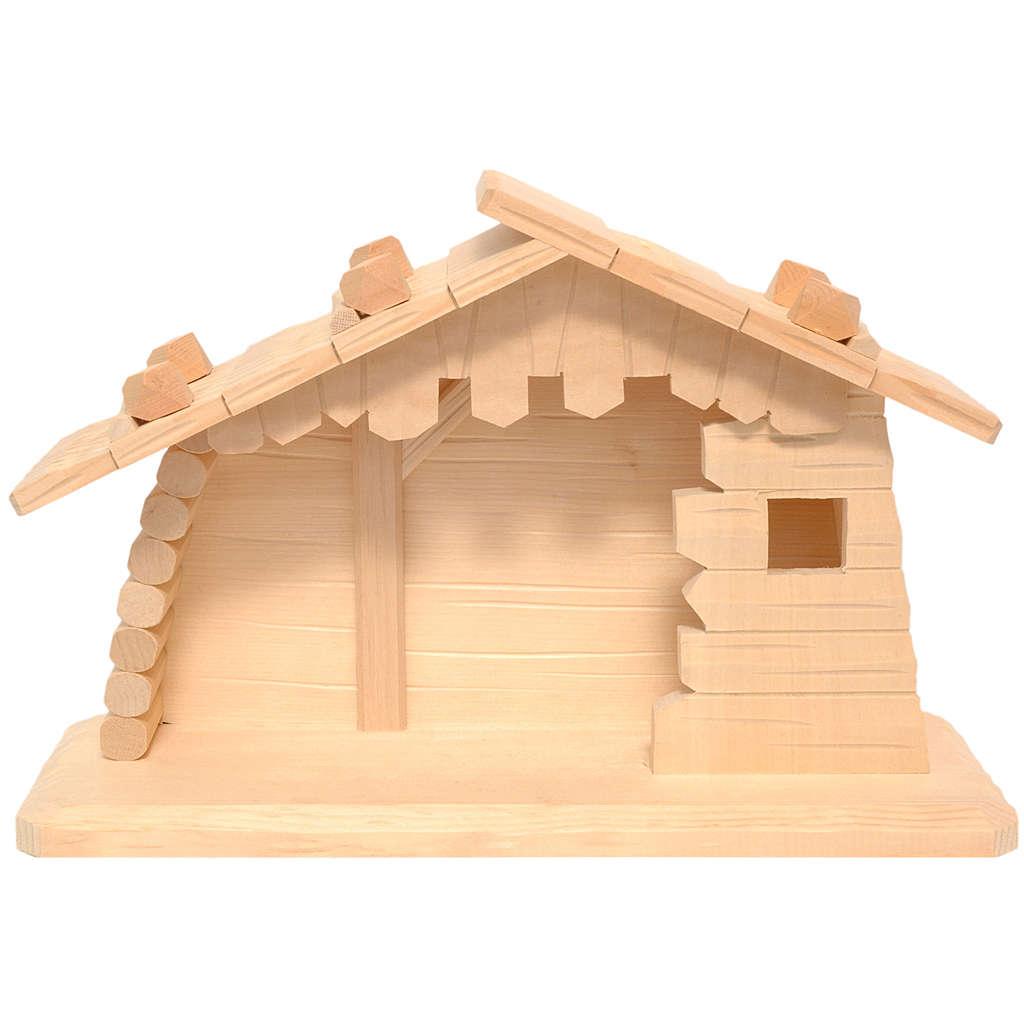 Cabane en bois crèche Valgardena 10 cm fin. naturelle 4