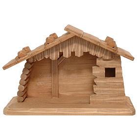 Stajenka drewno szopka Valgardena 10 cm patynowana s1
