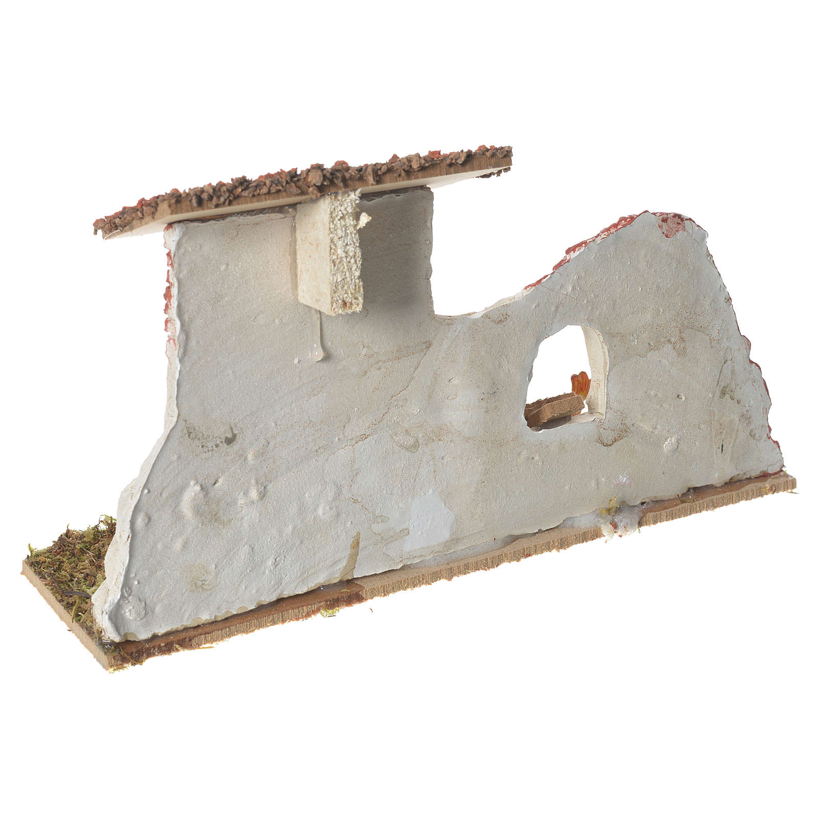 Poulailler en plâtre sur base pour crèche 17x28x10 cm 4