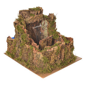 Waterfall for nativity scene with flow and pump  25x29x33 cm s2