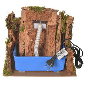 Waterfall for nativity scene with flow and pump  25x29x33 cm s4