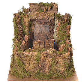 Waterfall for nativity scene with flow and pump  25x29x33 cm s1