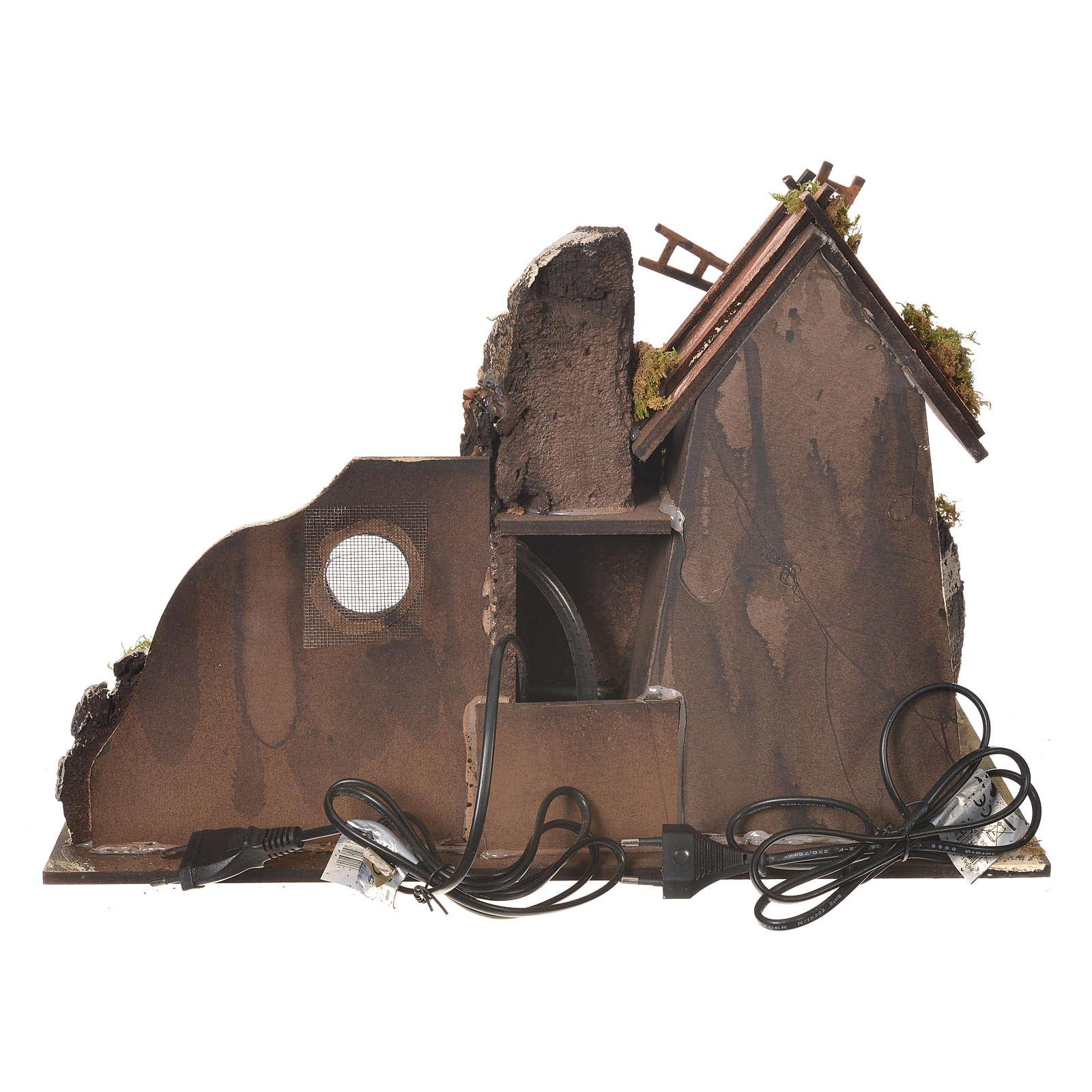 Mulino a vento presepe con abbeveratoio 31x30x45 cm 4