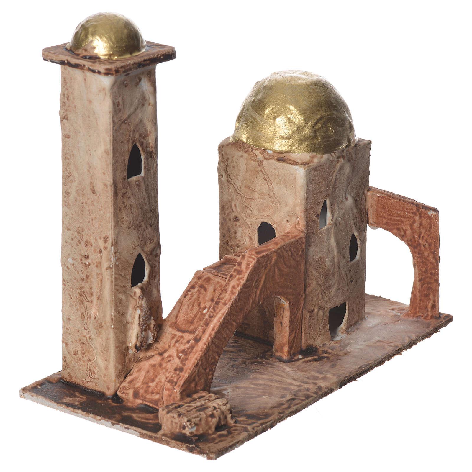 Minaret doré pour crèche 18x19x11 cm 4