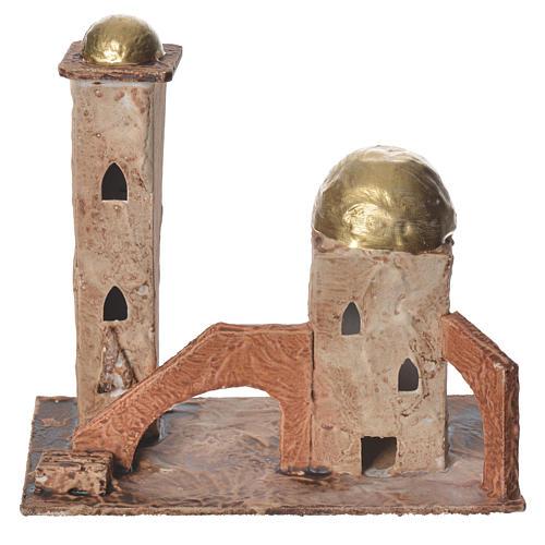 Minaret doré pour crèche 18x19x11 cm 1