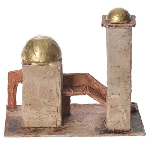 Minaret doré pour crèche 18x19x11 cm 3