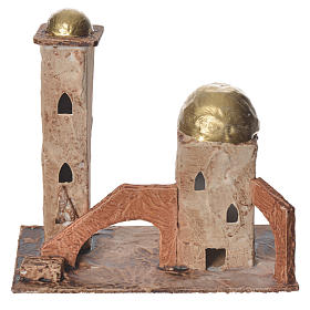 Minareto dorato per presepe 18x19x11 cm s1
