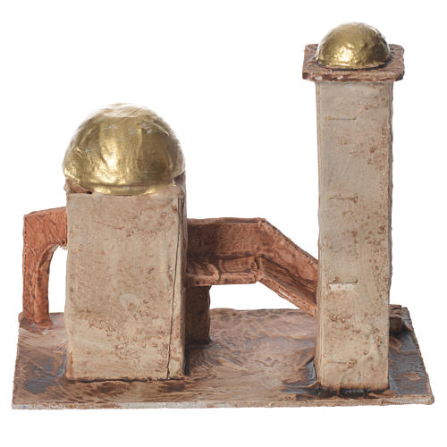 Minareto dorato per presepe 18x19x11 cm 3