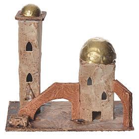 Golden minaret for nativities measuring 18x19x11cm s1