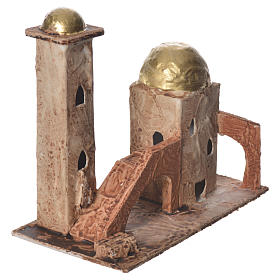 Golden minaret for nativities measuring 18x19x11cm s2