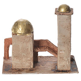 Golden minaret for nativities measuring 18x19x11cm s3