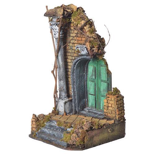 Tempio porta verde cm. 20x20x40 2