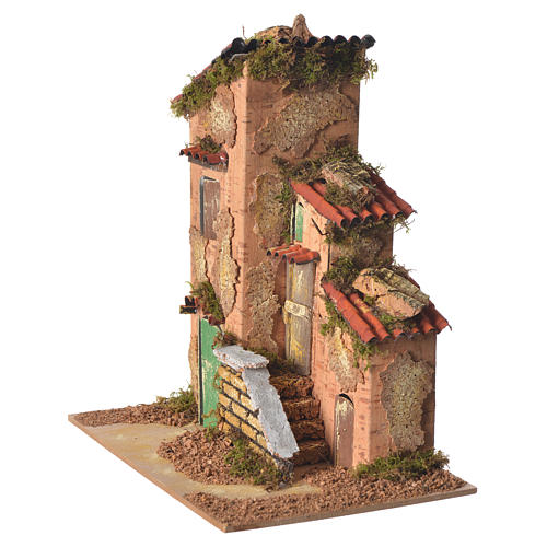 Nativity farmhouse measuring 25x21x16cm 3