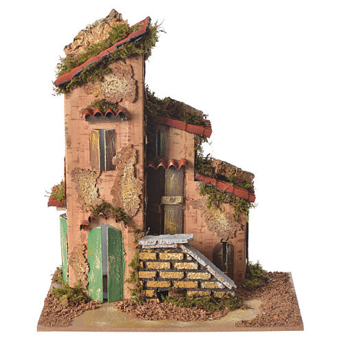 Nativity farmhouse measuring 25x21x16cm 1