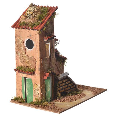 Nativity farmhouse measuring 25x21x16cm 2