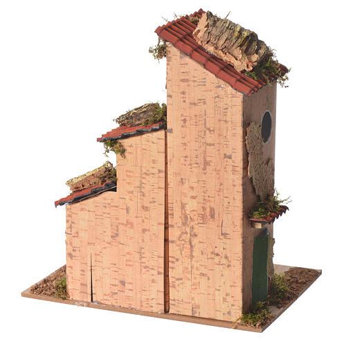Nativity farmhouse measuring 25x21x16cm 4
