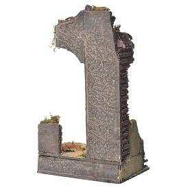 Tempio antico mezzo arco presepe 30x15x12 cm s3