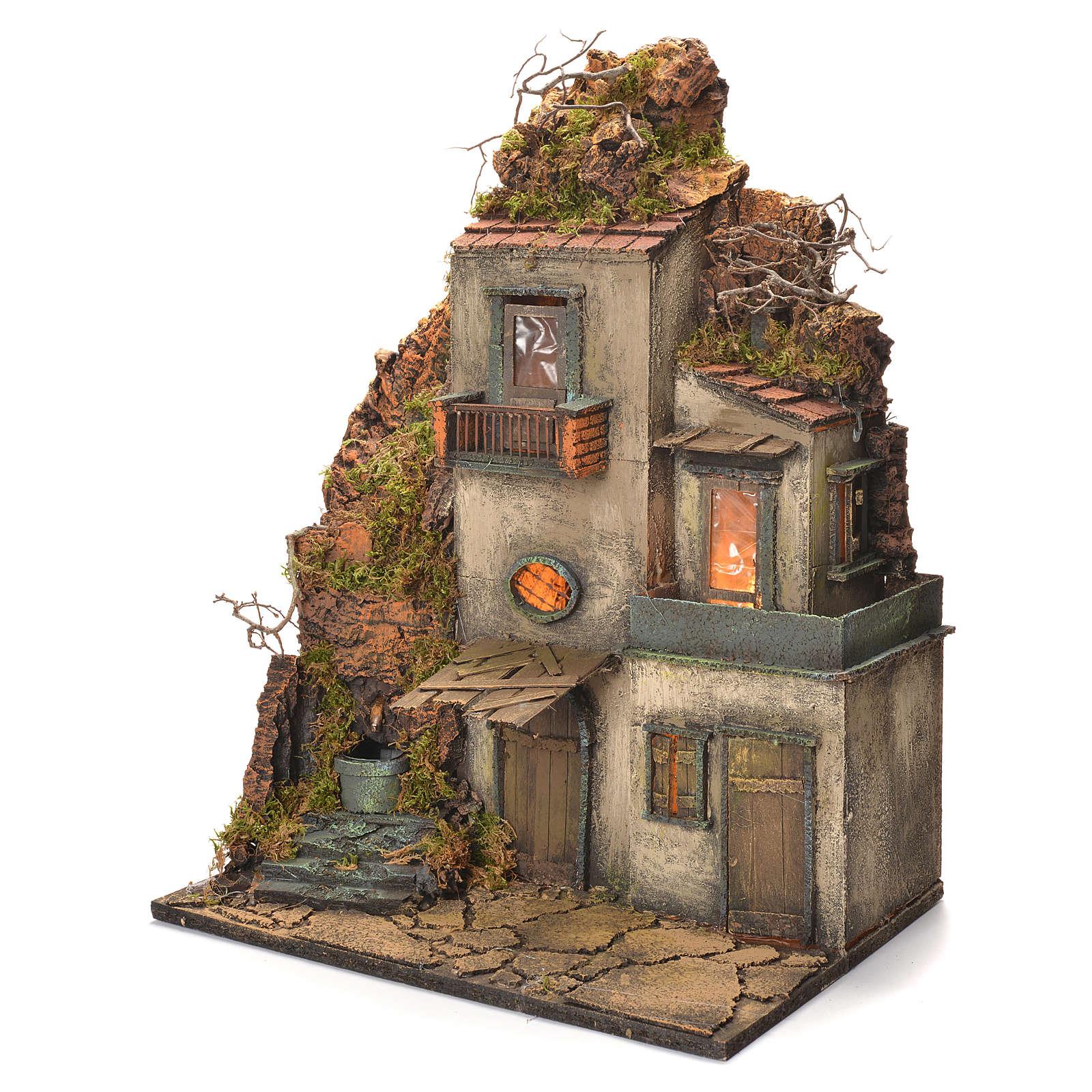 Borgo con fontana e scale presepe napoletano 60x40x30 | eBay