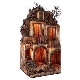 Borgo completo con grotta presepe Napoli 110x80x60 s3