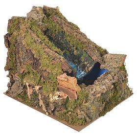 Ruscello presepe con pompa acqua 27x28x33 cm s2