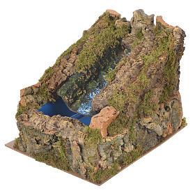 Ruscello presepe con pompa acqua 27x28x33 cm s3