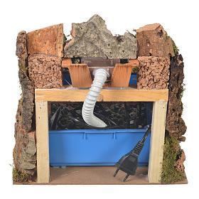 Ruscello presepe con pompa acqua 27x28x33 cm s5