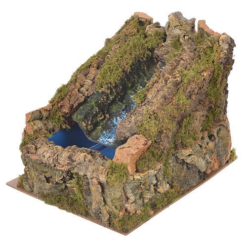 Ruscello presepe con pompa acqua 27x28x33 cm 3