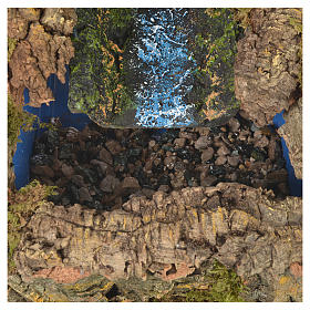 Nativity setting, stream with water pump 27x28x33cm s4