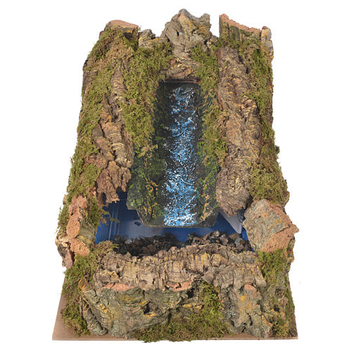 Nativity setting, stream with water pump 27x28x33cm 1