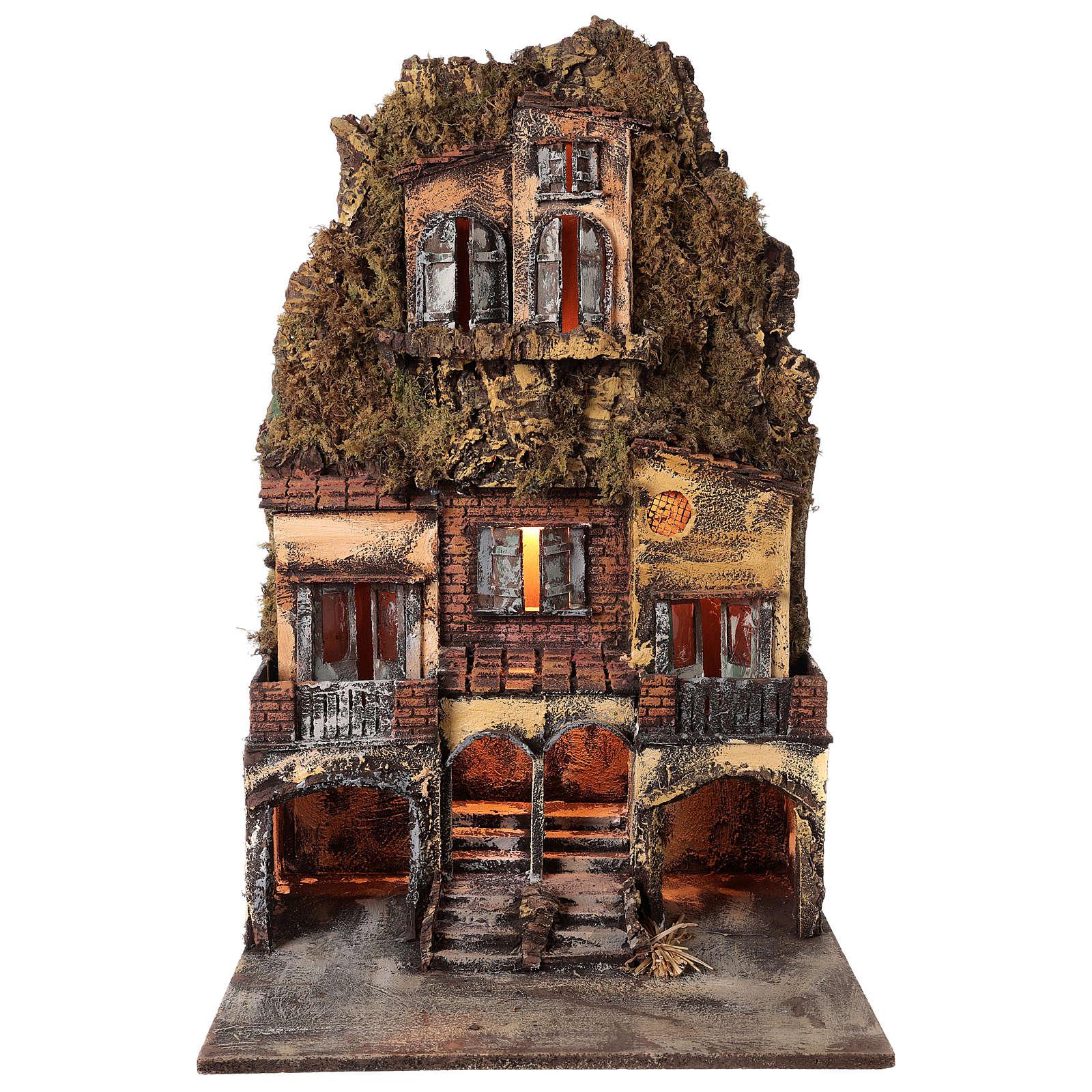 Village crèche napolitaine 75x45x35 cm pour santons 6/8cm 4