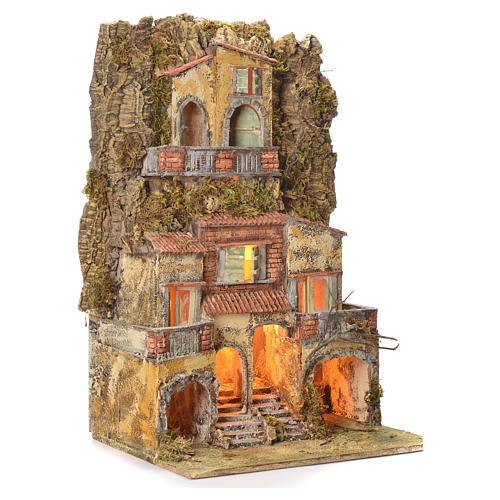 Borgo presepe napoletano 75X45X35 per statue 6/8 cm 2