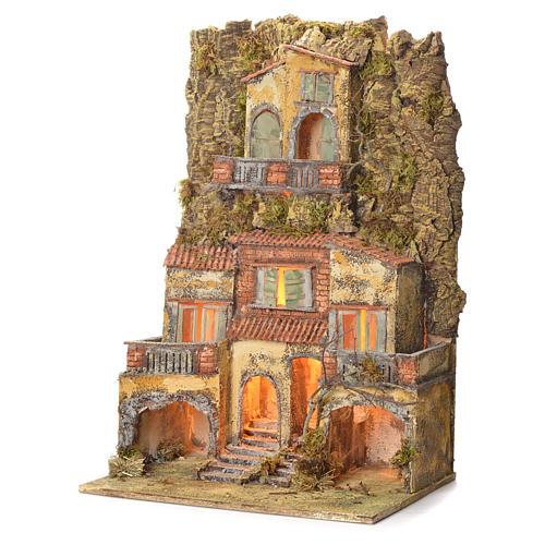 Borgo presepe napoletano 75X45X35 per statue 6/8 cm 3