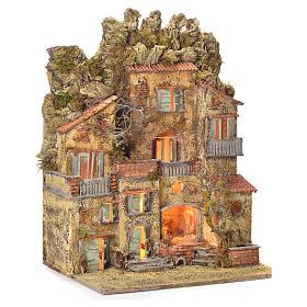 Neapolitan Nativity village with fountain 65x45x35, for 10cm s2